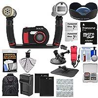 Sealife dc2000HD水中デジタルカメラwith Sea Dragon Pro Duoライト&フラッシュセット+広角レンズ+ 264GBカード+電池&充電器+バックパックキット