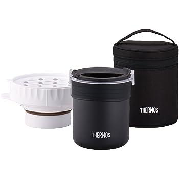 サーモス ごはんが炊ける弁当箱 約0.7合 ブラック JBS-360 BK