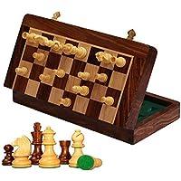 Kimaro 16 Foldable Premium Wooden Chess Game Board Set Ultimate tournament Chess Board by kimaro [並行輸入品]