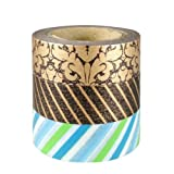 Wrapables Father's Day Patterns Japanese Washi Masking Tape, Set of 3