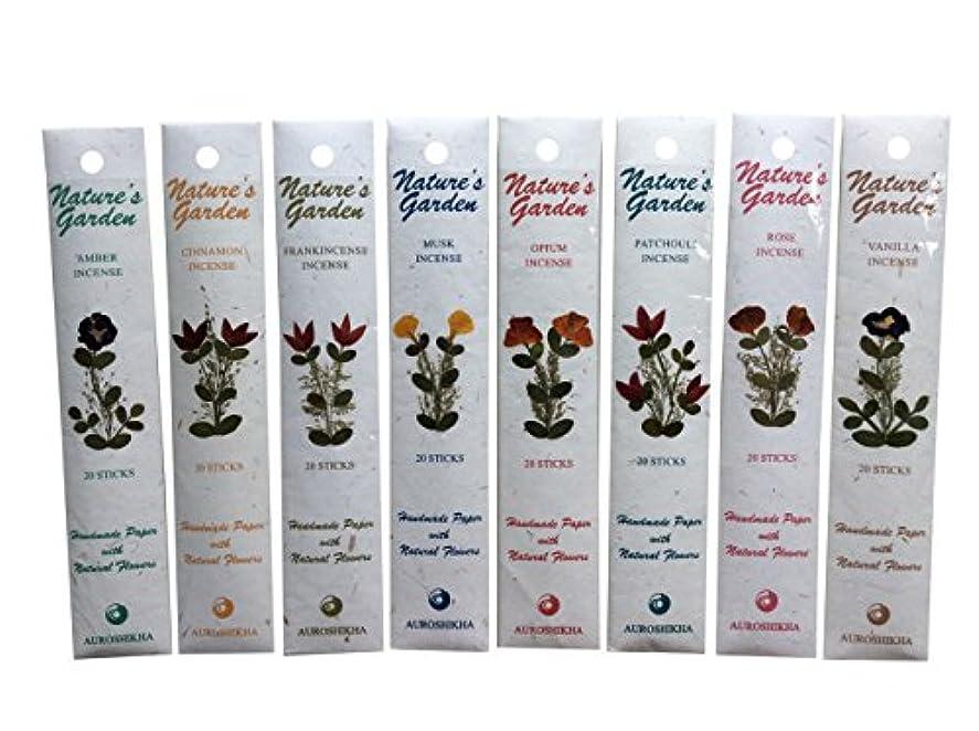 瞬時に起きる小麦粉Auroshikha Nature 's Garden (優れた品質) Incense Sticks – シナモンのコンボ、ムスク、ローズ、Frankincense、バニラ、Opiumとオレンジ(140 Sticks) ...