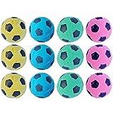 PETFAVORITES Foam Soccer Balls Cat Toys - Pack of 12