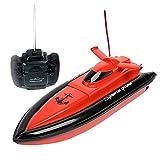 XYL Store F1高速RCボートリモートコントロール電動ボートレッド(水中でのみ動作)