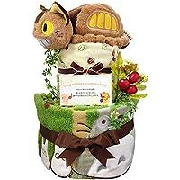 おむつケーキ となりのトトロ ネコバス 出産祝い 男の子 女の子 2段 5001(出産祝い)