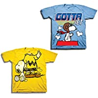 Peanuts Toddler Boys Snoopy Shirt - 2 Pack Classic Tees - Snoopy, Linus, Woodstock Charlie Brown