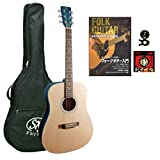 SX ドレッドノート タイプ ギター スタンダード入門セット SD204 BLU STSET