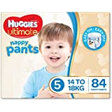 Huggies Ultimate Nappy Pants, Boys, Size 5 Walker, 14-18kg, 84 Count