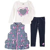 Kids Headquarters Baby Girls 3 Pieces Vest Pants Set