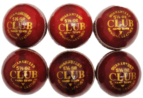Club Play Leather Cricket Ball (1 Ball)
