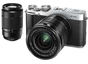 FUJIFILM デジタルカメラミラーレス一眼 X-M1ダブルズームレンズキット シルバー F X-M1S/1650/50230KIT