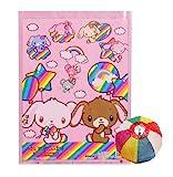 綿菓子袋 シュガーバニーズレインボー(100入) / お楽しみグッズ(紙風船)付きセット [おもちゃ&ホビー]