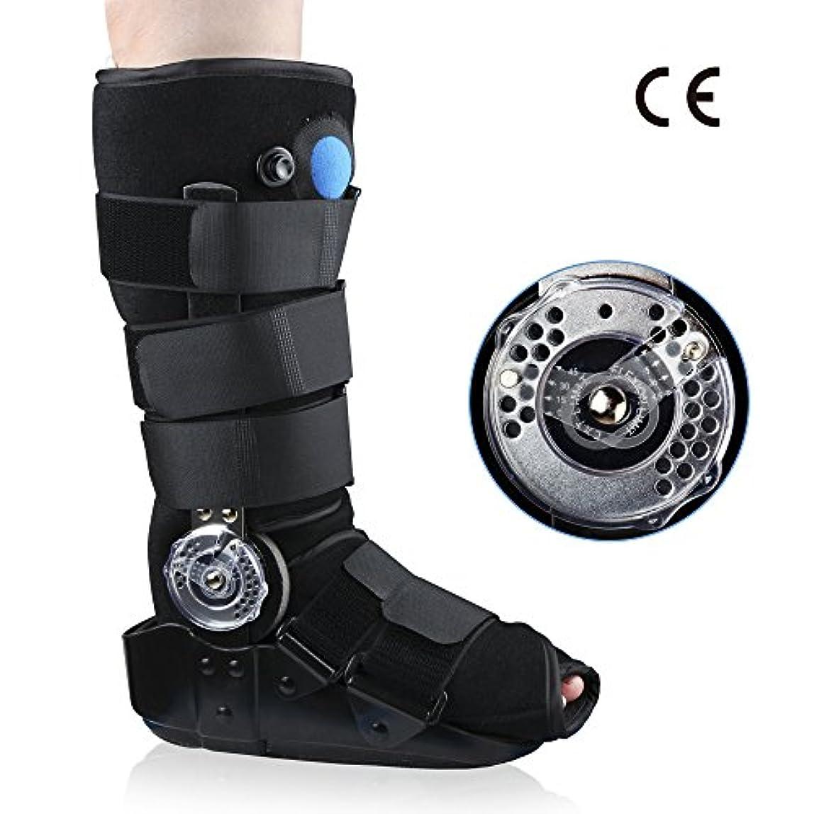 REAQER 足首サポート アキレス腱断裂の術後のリハビリシューズ 足首骨折固定ブレース 足首のサポート 骨折の靴 (S)