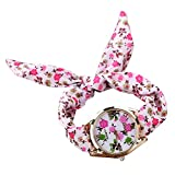 PolytreeレディースGirl 's花柄布バンドフラワードレスクォーツ腕時計(タイプ8)
