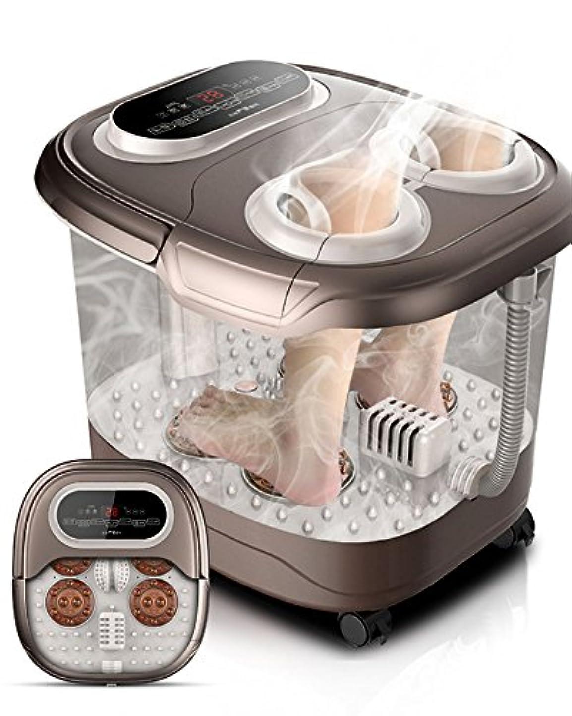 寝る検出する新聞ZHANGRONG- 足浴槽 自動 フットバス 電動マッサージ 加熱 フットバス 足浴槽 フットマッサージ機 家庭 一定温度