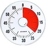 Wincle カウントタイマー 19cm 静音設計 クオーツ駆動 時間感覚を養い 時間管理 に適した アナログ タイマー (0?60分計測可能) 時間管理の為のお役立ちツール
