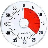 Wincle カウントタイマー 19cm 静音設計 クオーツ駆動 時間感覚を養い 時間管理 に適した アナログ タイマー (0〜60分計測可能) 時間管理の為のお役立ちツール