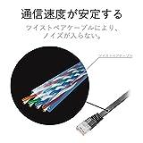 ELECOM LANケーブル CAT6準拠 Gigabit スーパーフラット 5m ブラック 【PlayStation 4 対応】 LD-GF/BK5_02