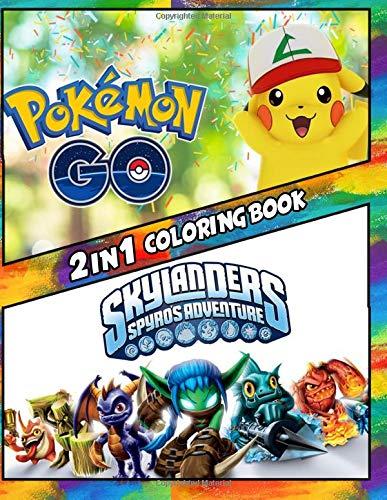 2 in 1 Coloring Book Pokemon Go and Skylanders: Be...