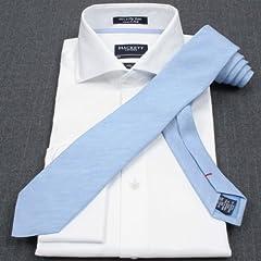 Hackett Linen Silk Solid Tie: Skyblue