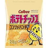 カルビー ポテトチップス 小袋 コンソメパンチ 28g×24個