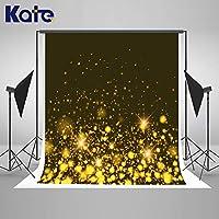 Kate Blck ゴールドグリッター写真背景 ゴールド背景 輝くキラキラ光るスポットボケロス 輝くウェディングパーティー 写真背景 子供用 スタジオ小道具
