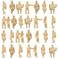 情景コレクション 人間 人形 人物 人間フィギュア 未塗装 着席人 座っている人形 1:30 30本入り 箱庭 装飾 鉄道模型 建物模型 ジオラマ 教育 DIY