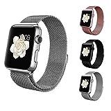 BRG apple watch バンド,ミラネーゼループ アップルウォッチバンド アップルウォッチ1 apple watch series 2 apple watch series 3 ステンレス留め金製(42mm,シルバー)18か月保証付き