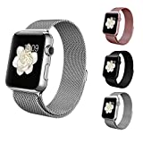 BRG apple watch バンド,ミラネーゼループ アップルウォッチバンド アップルウォッチ1 apple watch series 2 apple watch series 3 ステンレス留め金製(42mm,シルバー)18ヶ月保証付き