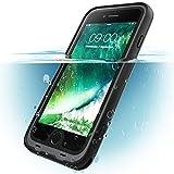 i-Blason iPhone8 Plus / iPhone7 Plus ケース 完全防水 両面ケース 360度フルカバー (ブラック)