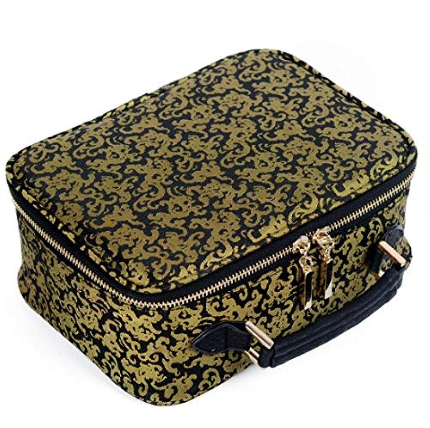 テラスコジオスコ寝るShiMin 美容バッグ、ポータブルトラベルバッグ、プリントポータブル二重層羽目板化粧品バッグ収納袋防水、男性と女性のウォッシュバッグ