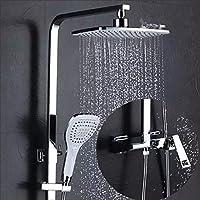 シャワーシステム、スクエアトップスプレー - 手持ち式ウォールマウント - 3つのアウトレットシャワーは柔軟性があります - 調節可能なシャワー - あなたの家にスパを連れて - 家族やホテルに適しています