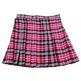 【Teens Ever】 TE-11SS スカート(ホットピンク×黒×白)LL サイズ/コスプレ/コスチューム