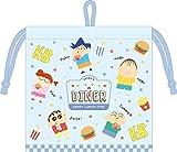 ティーズファクトリー 内ポケット付き フラット 巾着 クレヨンしんちゃん ハンバーガー 20×0.3×20cm