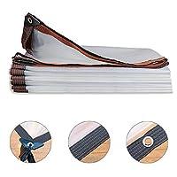 タープ・ブルーシート アイレット付きクリア防水ターポリン、軽量屋外タープ、植物ガーデンフラワー用アンチエイジング断熱PE (Size : 5M×5M)