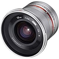 Samyang SY12M-FX-SIL 12mm F2.0 Ultra Wide Angle Lens for Fujifilm X-Mount Cameras, Silver [並行輸入品]