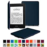 Fintie Amazon NEW-Kindle Paperwhite (2015) と Kindle Paperwhite (第6世代) カバー 最も薄く、最軽量の保護 レザー ケース マグネット機能搭載【Kindle Paperwhite All Generation専用】(ネイビー)