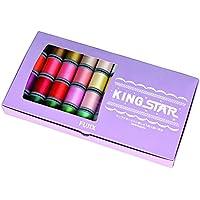 FUJIX(フジックス) キングスター ブラザー製 刺繍ミシン カラー対応 40個セット 飾り縫い ミシン刺しゅう糸
