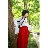 大人気☆コスプレ 巫女 コスチューム みこさん 衣装 Mサイズ 8点セット【GreeParty】