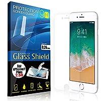 AnglersLife 液晶保護フィルム iPhone7 Plus 2.5D 9H ガラスシールド(全透明) ガラスフィルム 強化ガラス アイフォン セブン プラス
