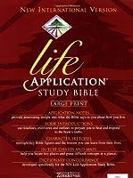 Holy Bible: Niv Life Application Bible/Large Print/Navy Bonded Leather/Plain (Niv Life Application Bible S.,)