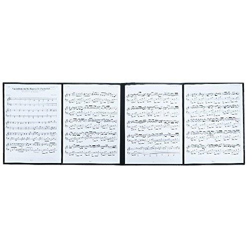 4ページ展開 楽譜ファイル 書込みOK A4 ライティングファイル 楽譜 6枚収納 発表会 演奏会 練習 楽譜ホルダー 楽譜スタンド