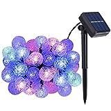 ストリングライト 6M 30球 5色 ボール型 LEDイルミネーションライト ソーラー充電式 ガーデンライト 夜間自動点灯