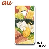 HTC J HTL22 スマホケース カバー ねこ 5-135