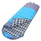 KEUMER 寝袋 シュラフ 冬用 ダウン暖かい 封筒型 コンパクト収納 車載、アウトドア、キャンプ等 使用温度範囲-3℃-10℃ (Light blue 2.3kg)