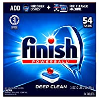 Finish All in 1 Powerball, 60 Tablets, Super Charged Automatic Dishwasher Detergent, Fresh Scent by Finish