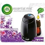 Air Wick Essential Oils Diffuser Mist Starter Kit (Gadget + 1 Refill), Lavender & Almond Blossom, Air Freshener