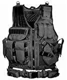 BATTLE CAT サバゲー メッシュ タクティカル ベスト ミリタリー 特殊部隊 SWAT 装備 (ブラック)