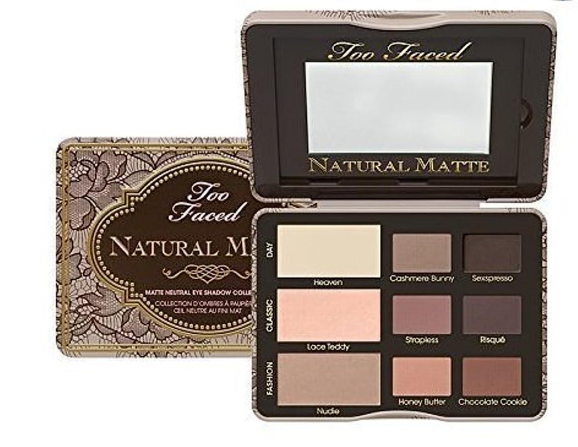 砂ブレーキ胚Too Faced Natural Matte Matte Neutral Eye Shadow Collection (並行輸入品) [並行輸入品]