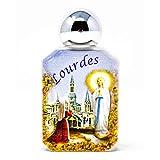 Glass Lourdes Bottle with Holy Water Blessed in Lourdes & Lourdes Prayer Card