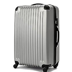 (トラベルデパート) 超軽量スーツケース TSAロック付 (Mサイズ(54L), グレー)